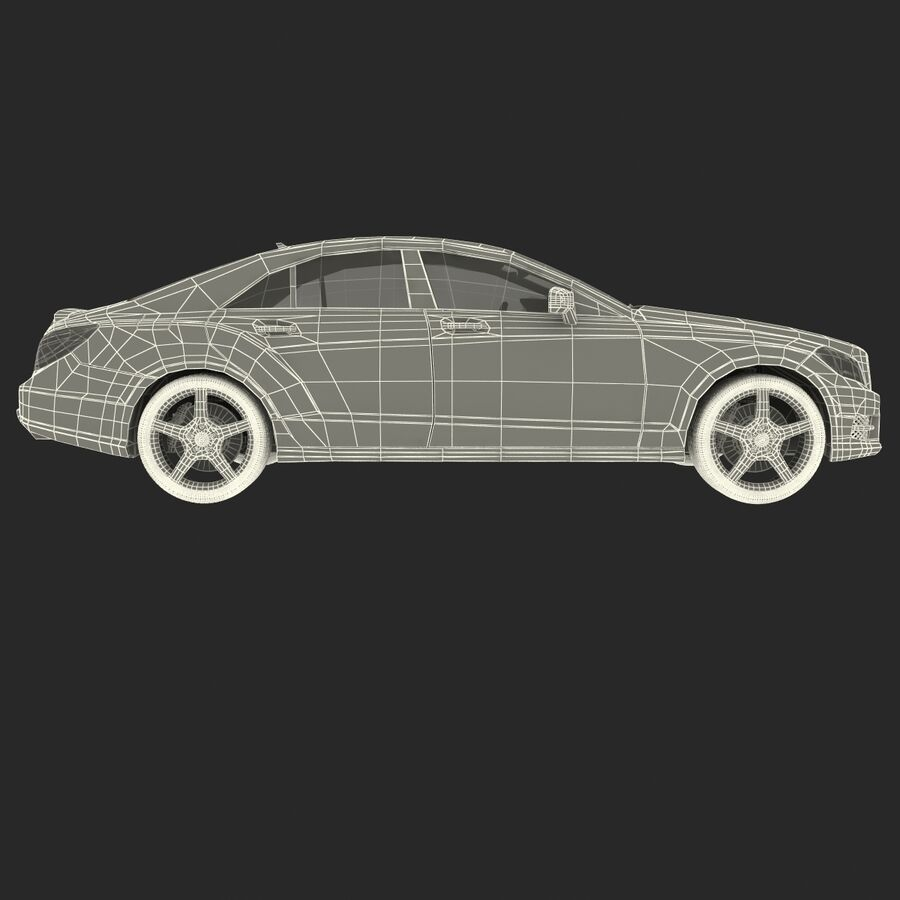 Mercedes-Benz CLS-Class Coupe 2014 Car Without Interior royalty-free 3d model - Preview no. 31