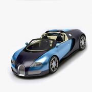 Rigged Bugatti Veyron 3d model