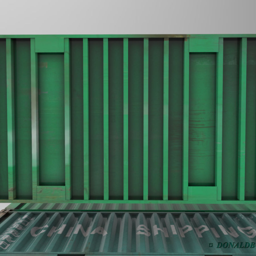 Container 20ft royalty-free 3d model - Preview no. 5
