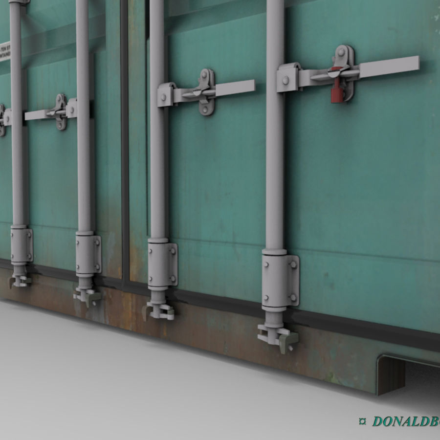 Container 20ft royalty-free 3d model - Preview no. 3