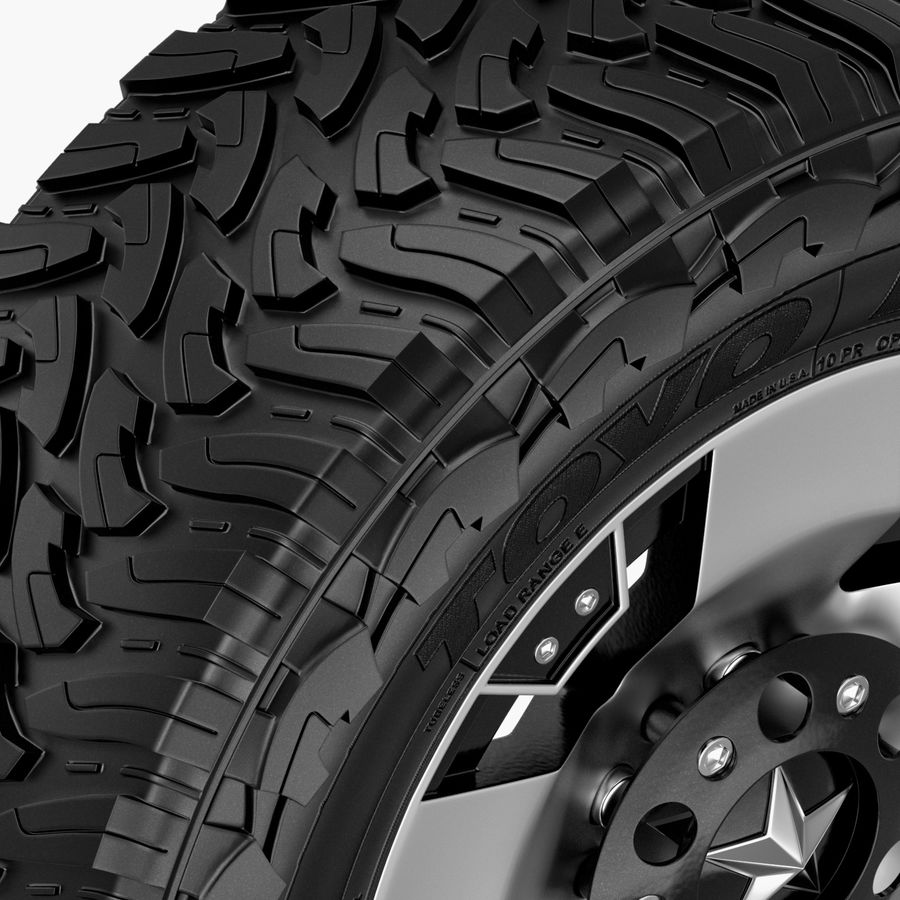 Off Road Wheel ROCKSTAR & TOYO royalty-free 3d model - Preview no. 2