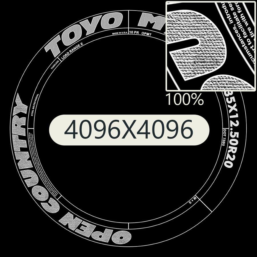 Off Road Wheel ROCKSTAR & TOYO royalty-free 3d model - Preview no. 12