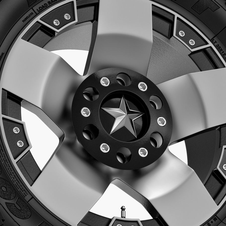 Off Road Wheel ROCKSTAR & TOYO royalty-free 3d model - Preview no. 3