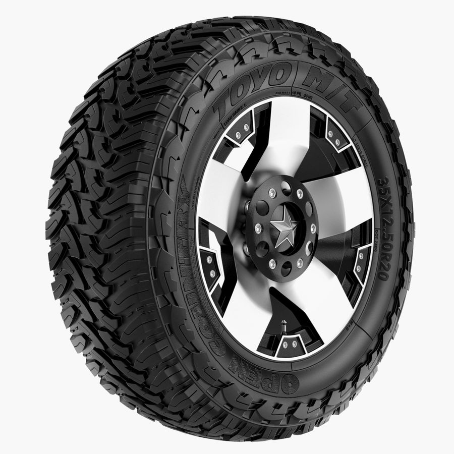 Off Road Wheel ROCKSTAR & TOYO royalty-free 3d model - Preview no. 1
