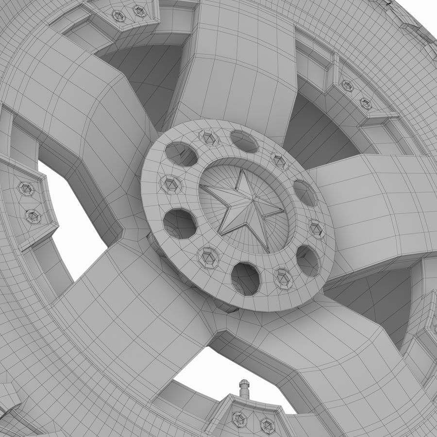 Off Road Wheel ROCKSTAR & TOYO royalty-free 3d model - Preview no. 9