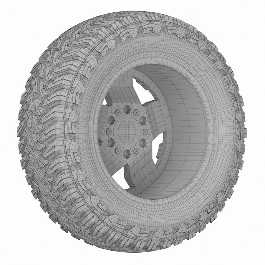 Off Road Wheel ROCKSTAR & TOYO royalty-free 3d model - Preview no. 8