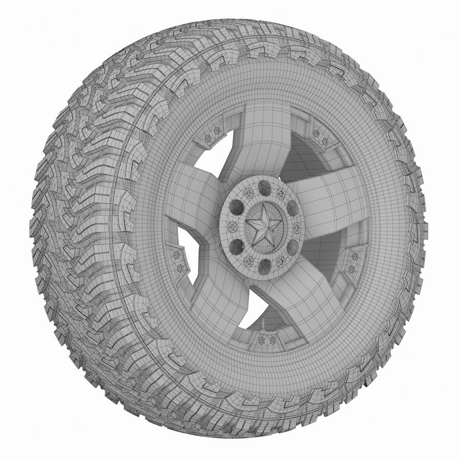 Off Road Wheel ROCKSTAR & TOYO royalty-free 3d model - Preview no. 7
