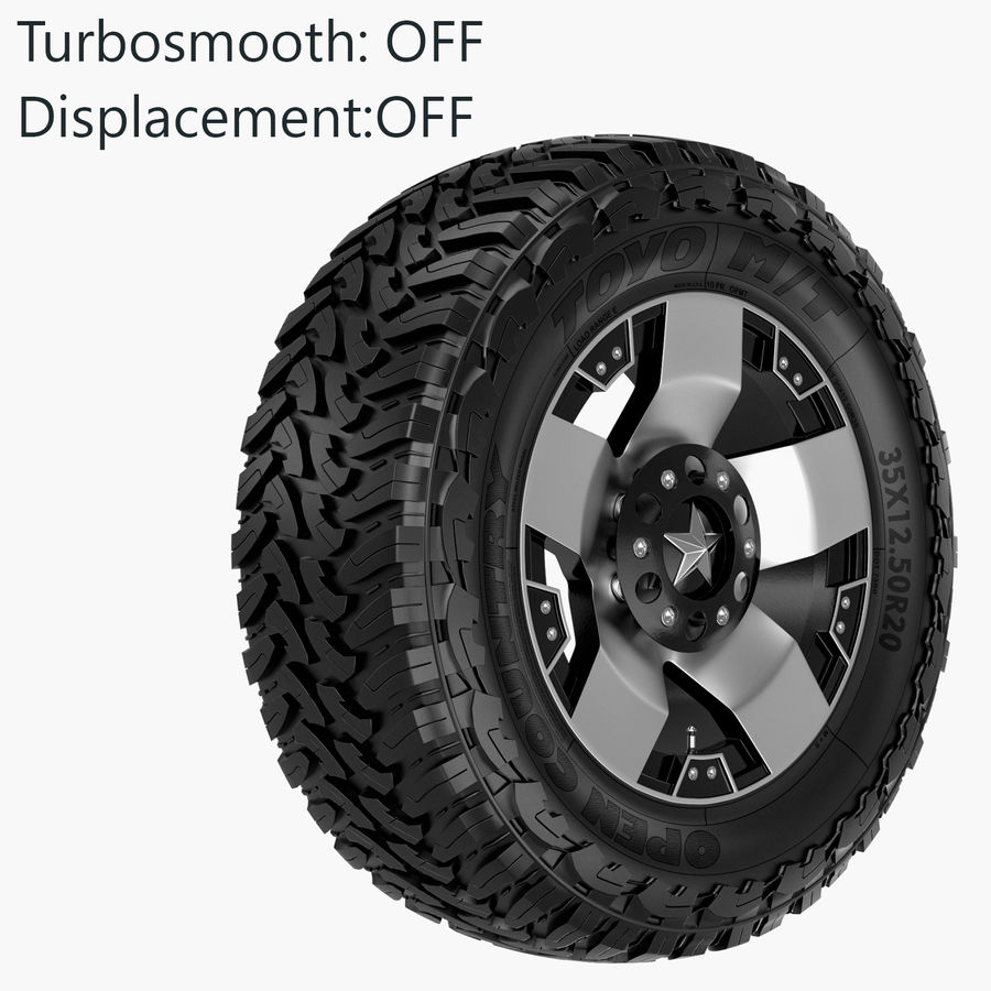 Off Road Wheel ROCKSTAR & TOYO royalty-free 3d model - Preview no. 6