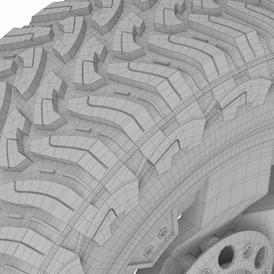Off Road Wheel ROCKSTAR & TOYO royalty-free 3d model - Preview no. 10