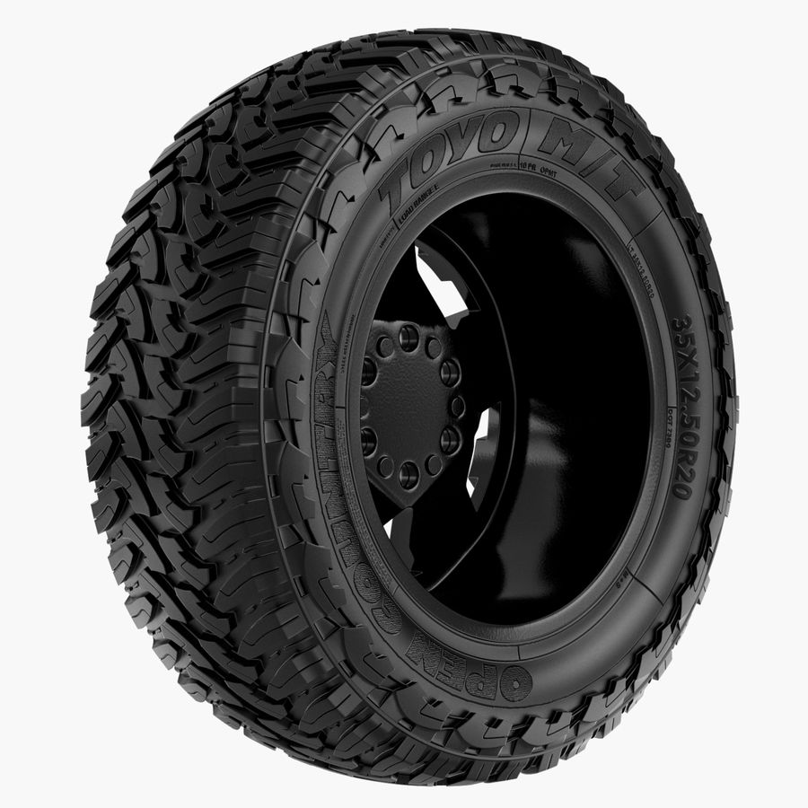 Off Road Wheel ROCKSTAR & TOYO royalty-free 3d model - Preview no. 5