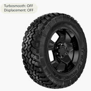 Off Road Wheel Nitto & MOTO METAL 3d model