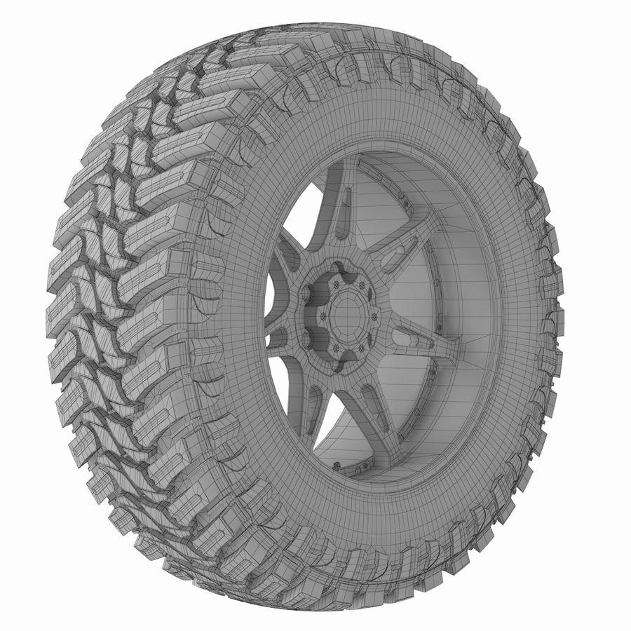 Off Road Wheel Atturo & Moto Metal royalty-free 3d model - Preview no. 6