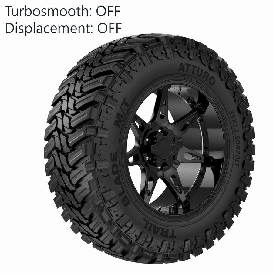 Off Road Wheel Atturo & Moto Metal royalty-free 3d model - Preview no. 5