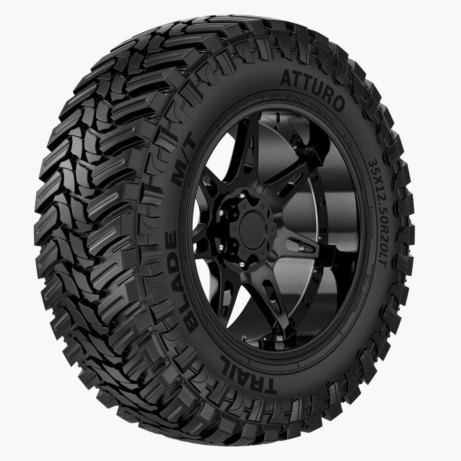 Off Road Wheel Atturo & Moto Metal royalty-free 3d model - Preview no. 1