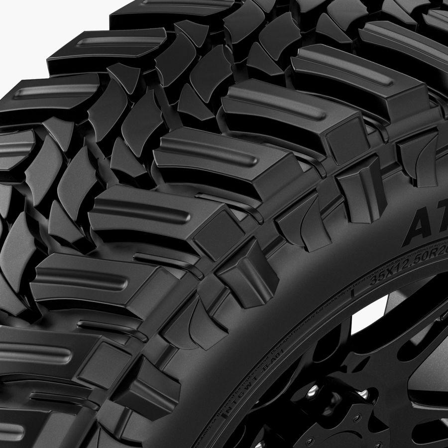 Off Road Wheel Atturo & Moto Metal royalty-free 3d model - Preview no. 4