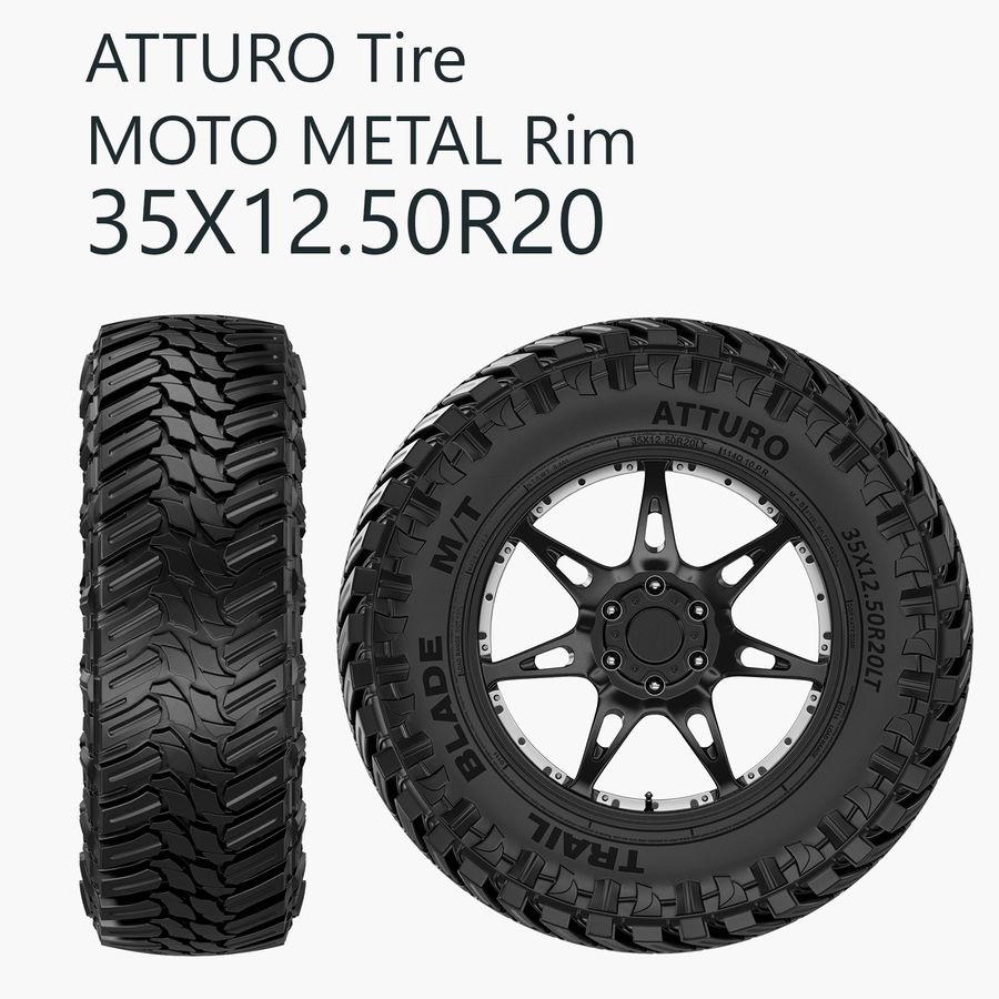 Off Road Wheel Atturo & Moto Metal royalty-free 3d model - Preview no. 2