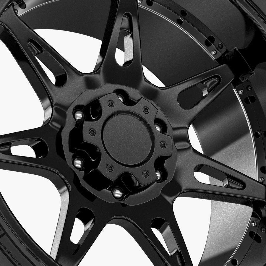 Off Road Wheel Atturo & Moto Metal royalty-free 3d model - Preview no. 3
