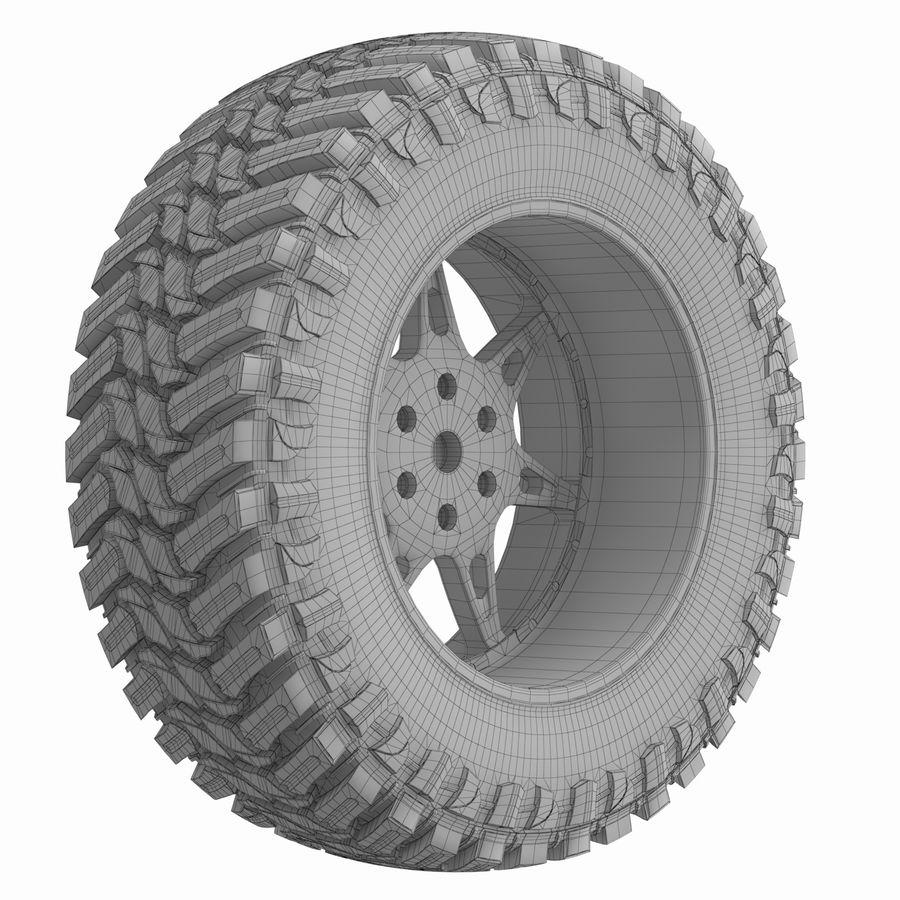 Off Road Wheel Atturo & Moto Metal royalty-free 3d model - Preview no. 7