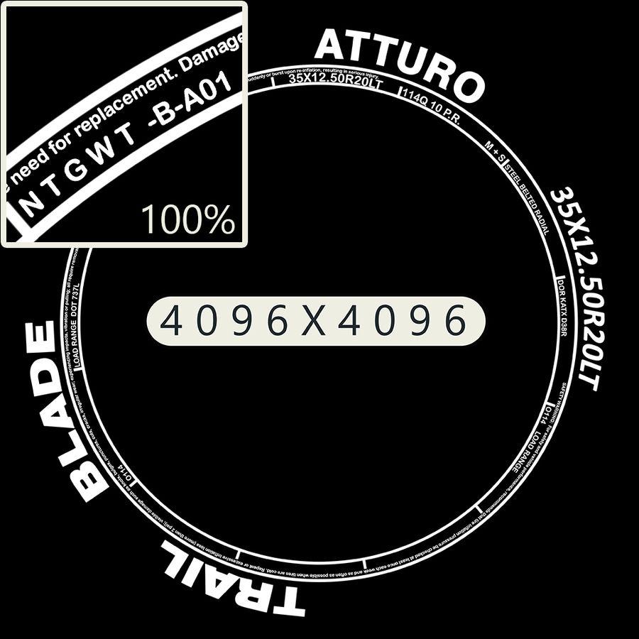 Off Road Wheel Atturo & Moto Metal royalty-free 3d model - Preview no. 10