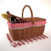 Picnic Basket 3d model