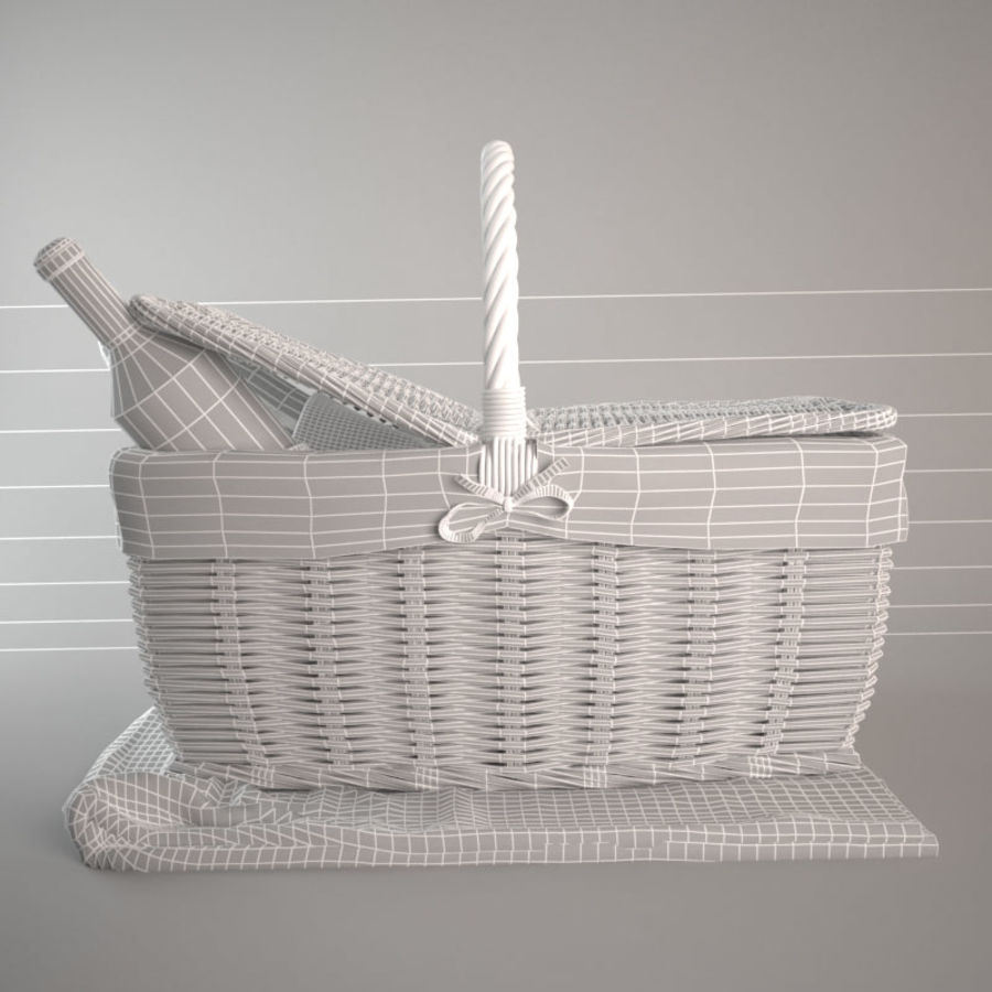 Panier pique-nique royalty-free 3d model - Preview no. 6