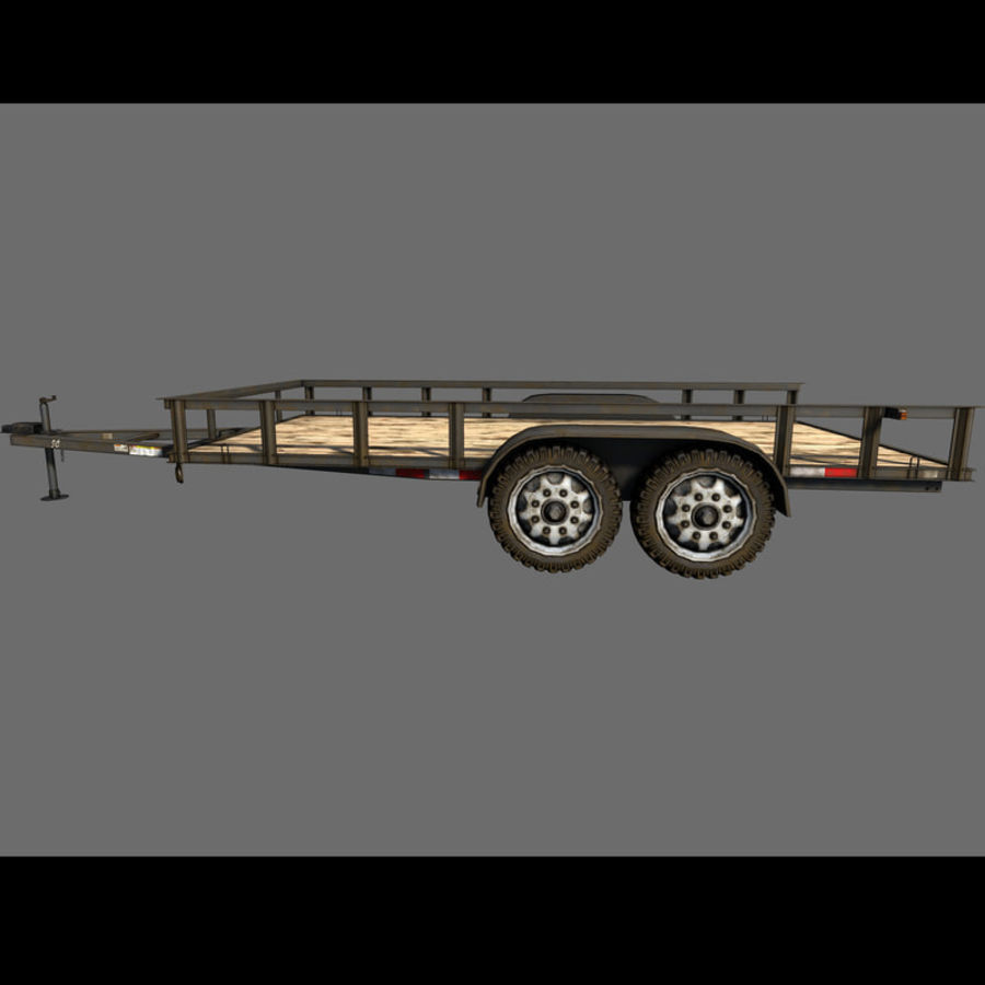 Cargo trailer royalty-free 3d model - Preview no. 31