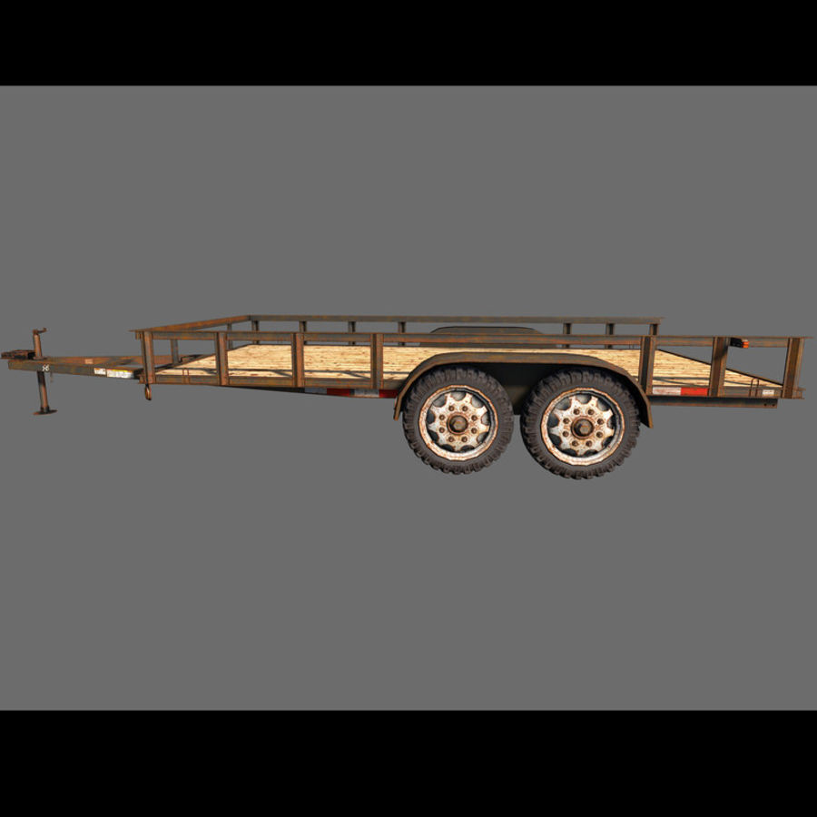 Cargo trailer royalty-free 3d model - Preview no. 17