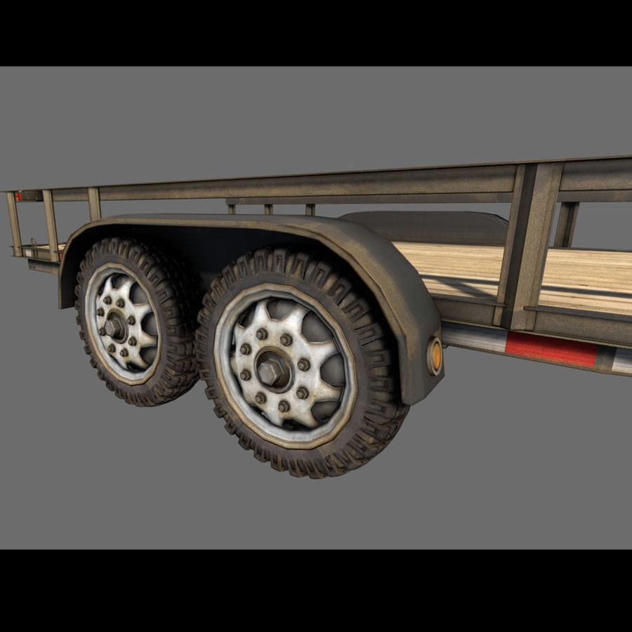 Cargo trailer royalty-free 3d model - Preview no. 22