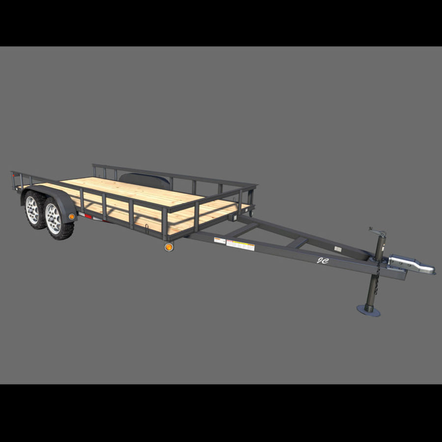 Cargo trailer royalty-free 3d model - Preview no. 1
