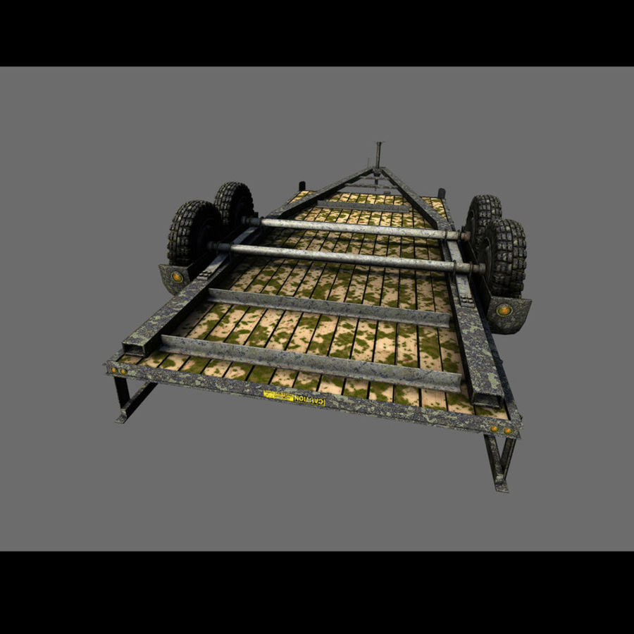 Cargo trailer royalty-free 3d model - Preview no. 40