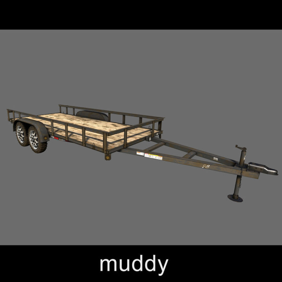 Cargo trailer royalty-free 3d model - Preview no. 27