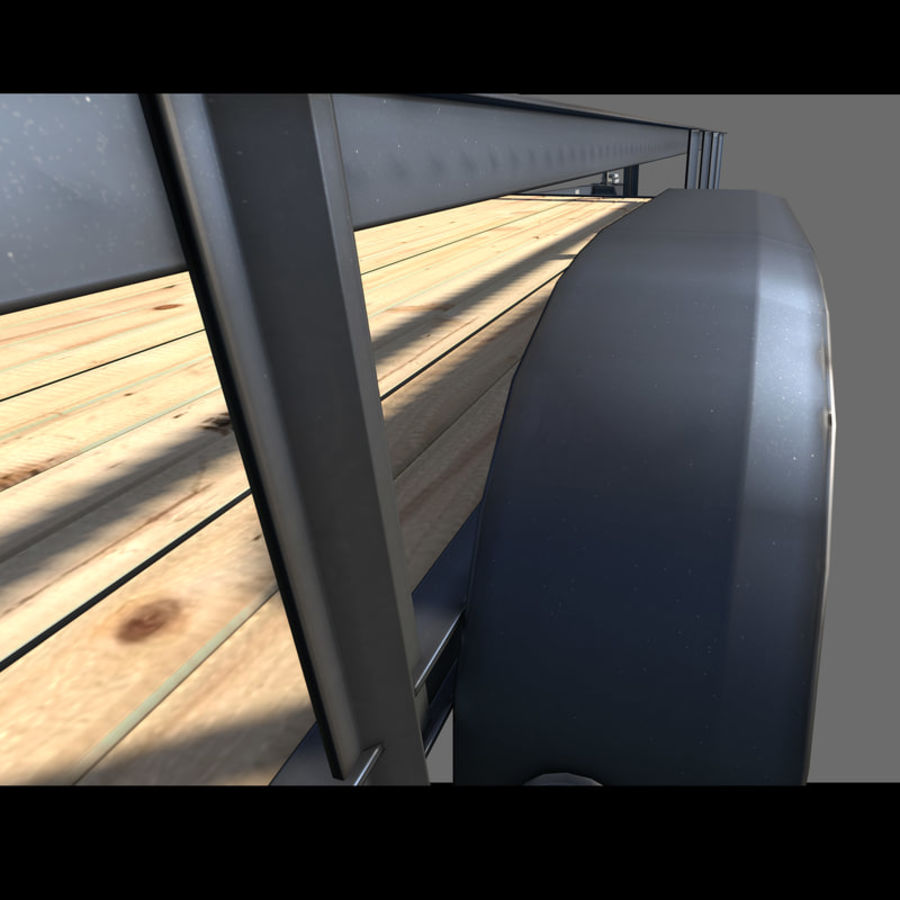 Cargo trailer royalty-free 3d model - Preview no. 4