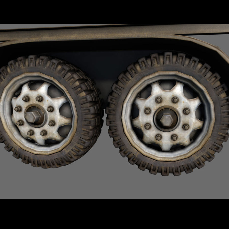 Cargo trailer royalty-free 3d model - Preview no. 25
