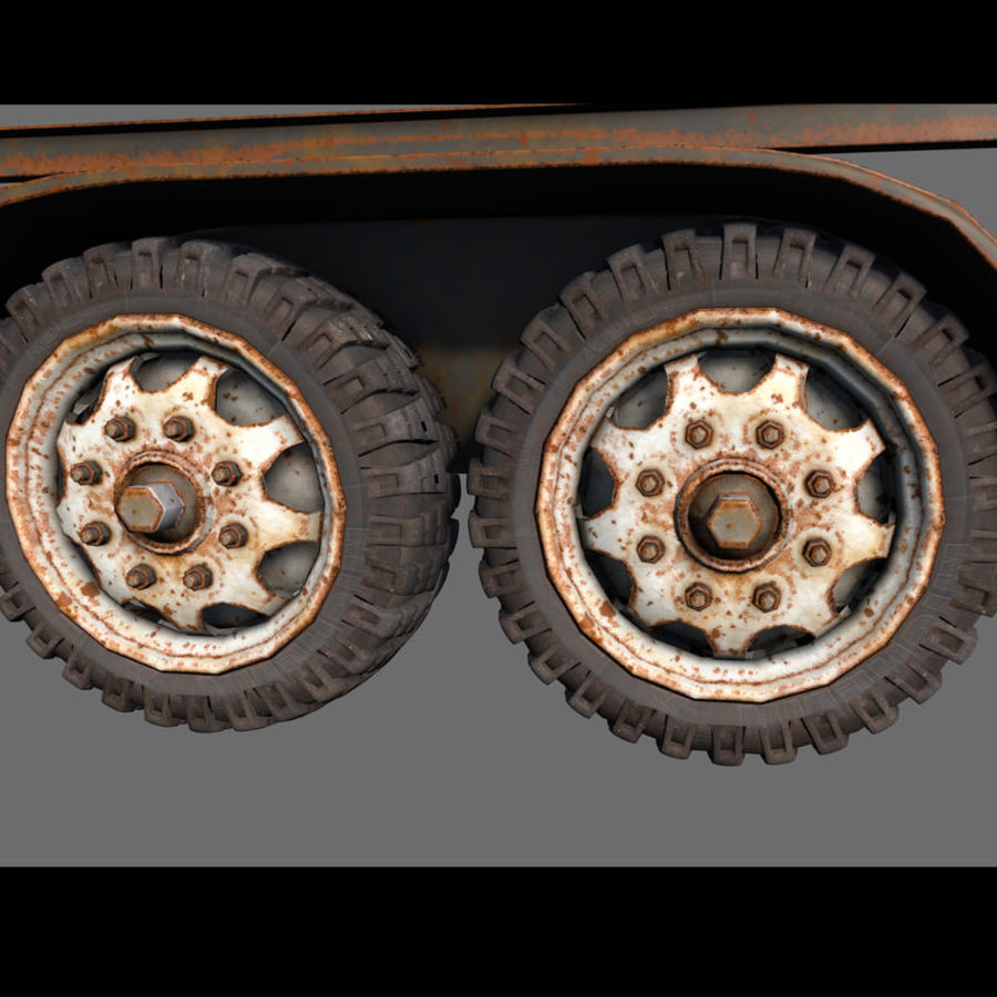 Cargo trailer royalty-free 3d model - Preview no. 18