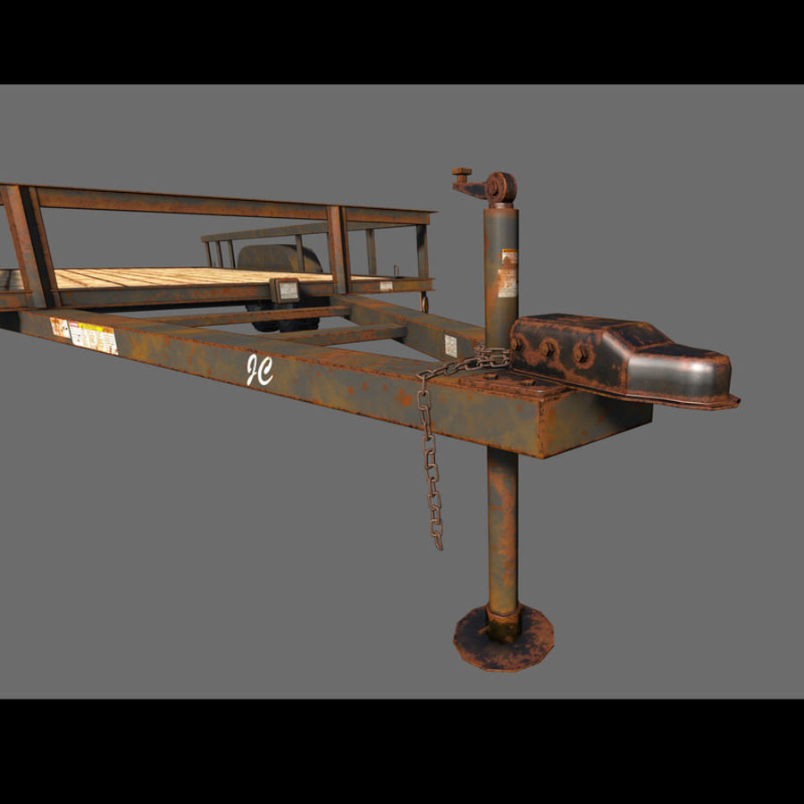 Cargo trailer royalty-free 3d model - Preview no. 14