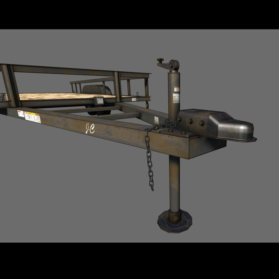 Cargo trailer royalty-free 3d model - Preview no. 28