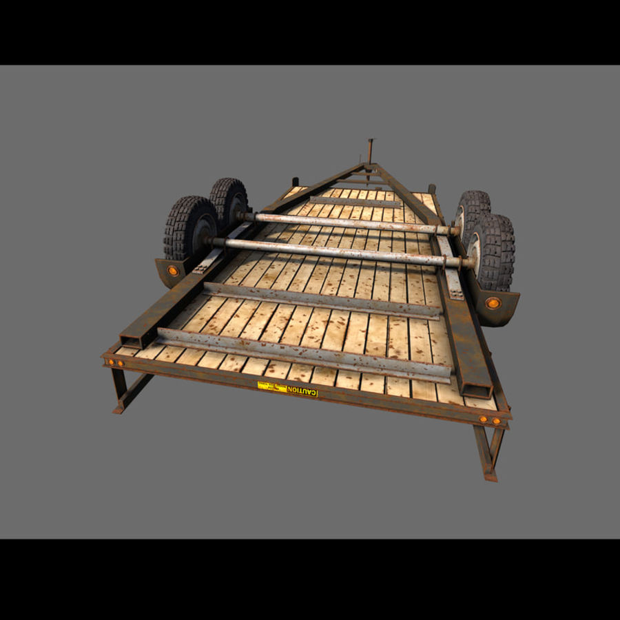 Cargo trailer royalty-free 3d model - Preview no. 19