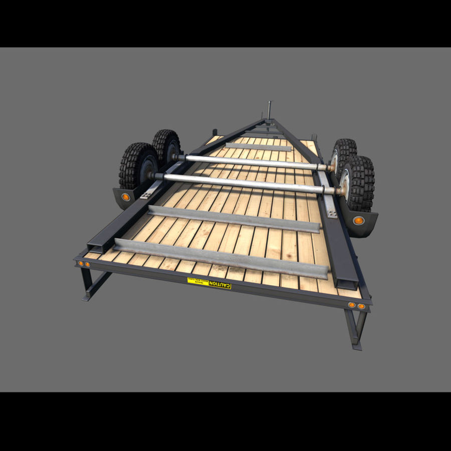 Cargo trailer royalty-free 3d model - Preview no. 8