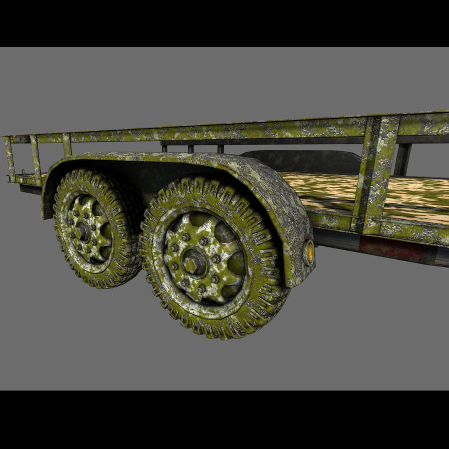 Cargo trailer royalty-free 3d model - Preview no. 36