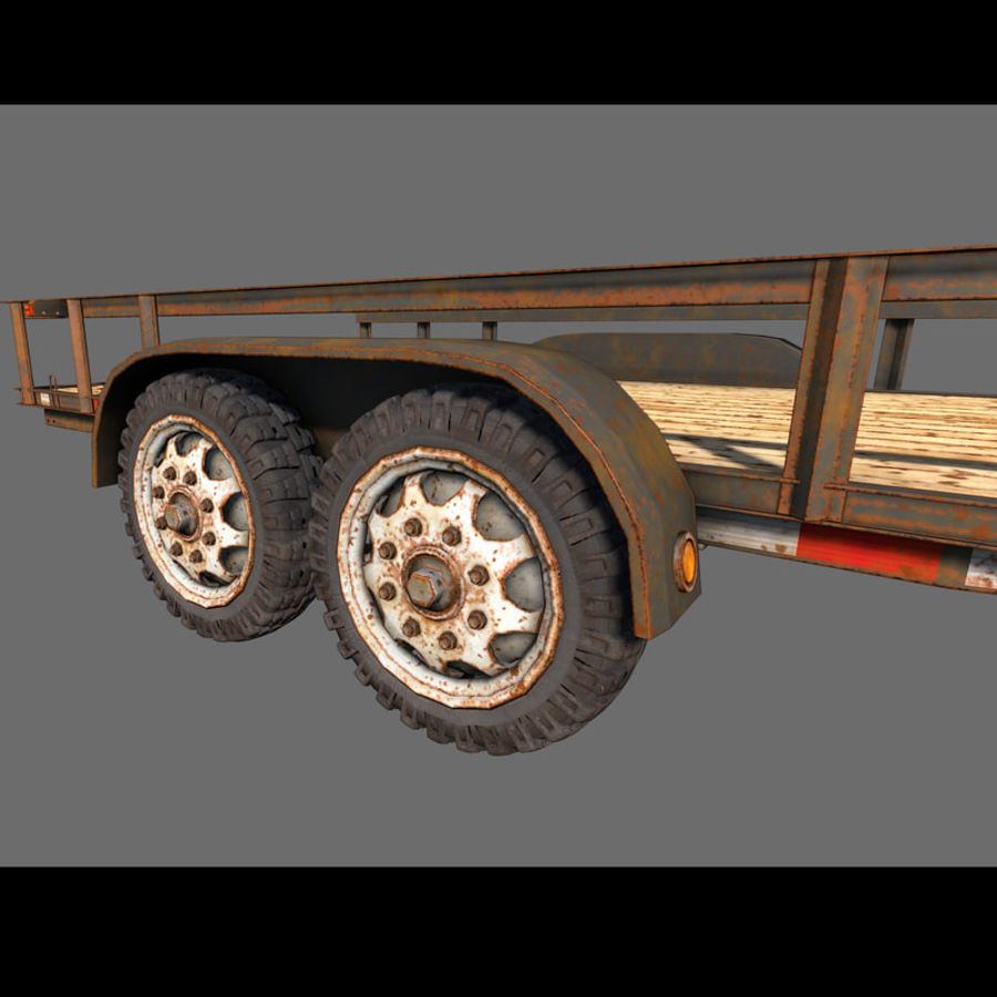Cargo trailer royalty-free 3d model - Preview no. 15