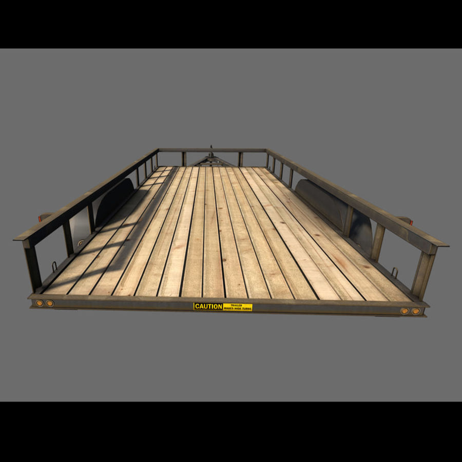 Cargo trailer royalty-free 3d model - Preview no. 23