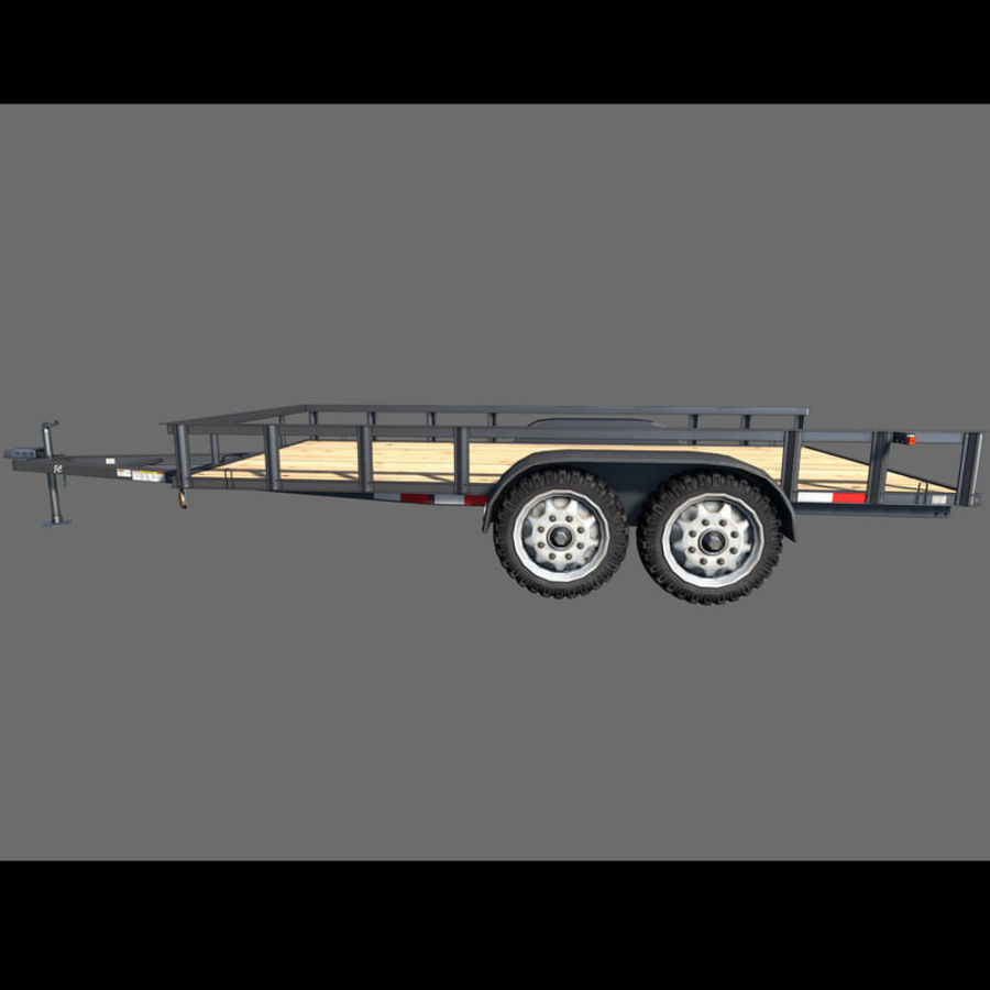 Cargo trailer royalty-free 3d model - Preview no. 6