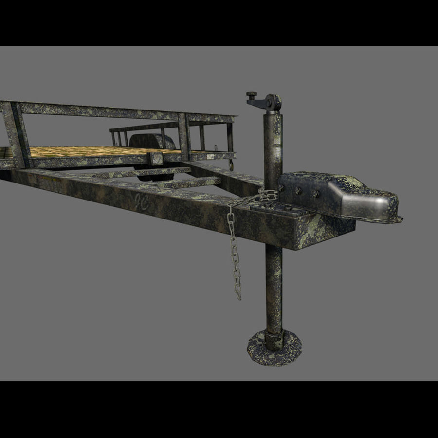Cargo trailer royalty-free 3d model - Preview no. 35