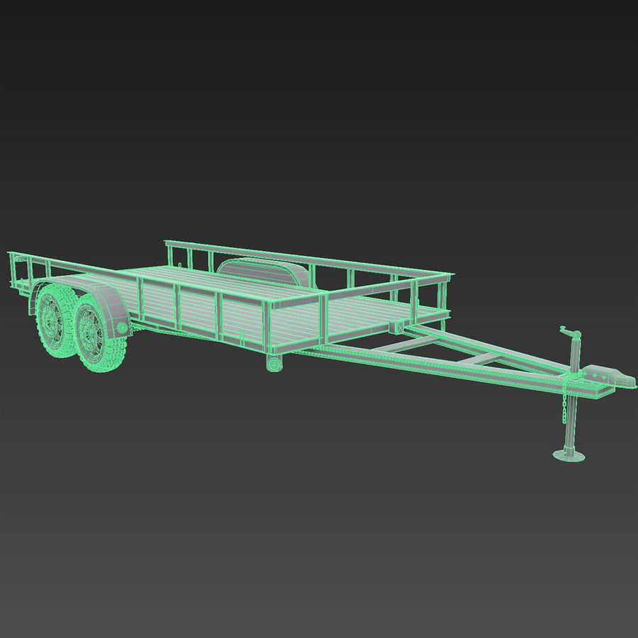 Cargo trailer royalty-free 3d model - Preview no. 9