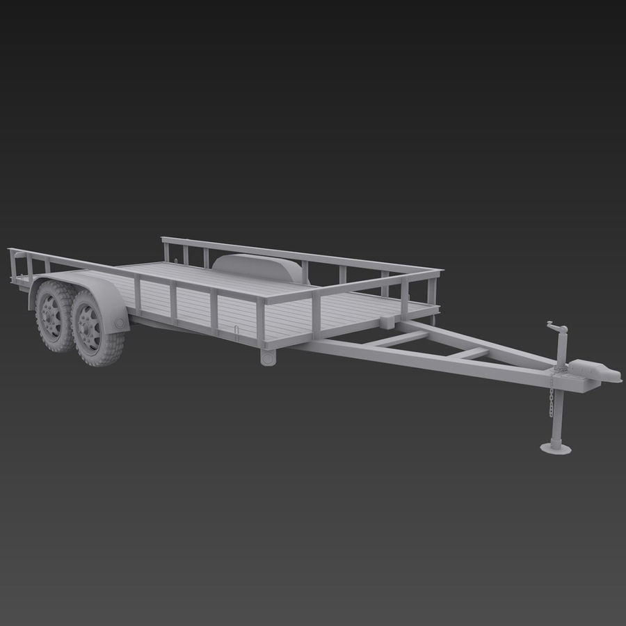 Cargo trailer royalty-free 3d model - Preview no. 10