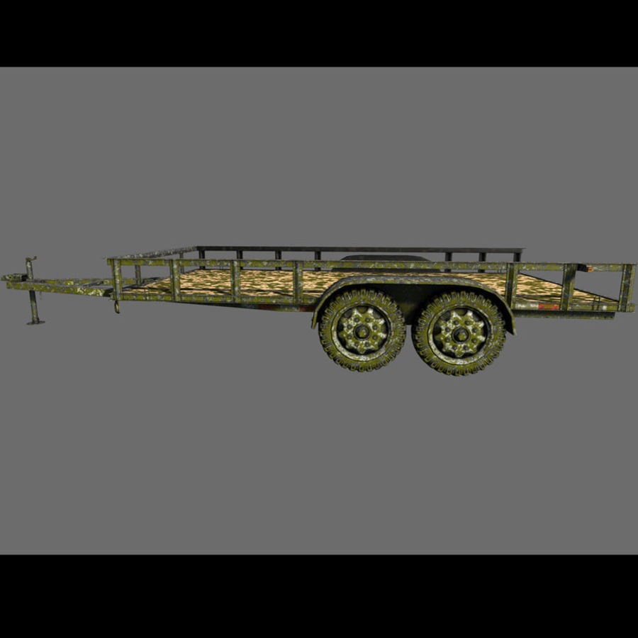 Cargo trailer royalty-free 3d model - Preview no. 38