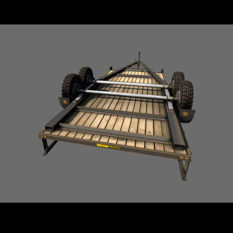 Cargo trailer royalty-free 3d model - Preview no. 26