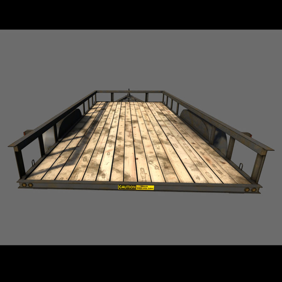 Cargo trailer royalty-free 3d model - Preview no. 30