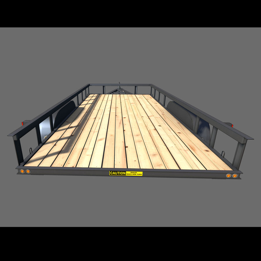 Cargo trailer royalty-free 3d model - Preview no. 5