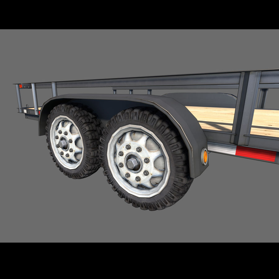 Cargo trailer royalty-free 3d model - Preview no. 3